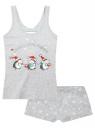 Пижама хлопковая с новогодним принтом oodji #SECTION_NAME# (серый), 56002138-9/47990/2019Z