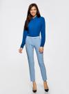 Блузка из струящейся ткани oodji #SECTION_NAME# (синий), 11400368-3/32823/7500N - вид 6
