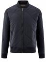 Куртка-бомбер на молнии oodji #SECTION_NAME# (синий), 1L111031M/47669N/7900N
