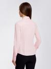 Рубашка базовая с одним карманом oodji #SECTION_NAME# (розовый), 11406013/18693/4000N - вид 3