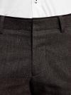 Брюки из плотной ткани с контрастной отделкой oodji #SECTION_NAME# (коричневый), 2L200162M/44435N/3929B - вид 4