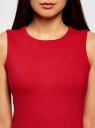 Платье облегающего силуэта на молнии oodji для женщины (красный), 14005139/33185/4500N