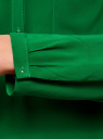 Блузка принтованная из вискозы oodji #SECTION_NAME# (зеленый), 11411049-1/24681/6B00N - вид 5