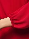 Платье из шифона с ремнем oodji #SECTION_NAME# (красный), 11900150-5B/32823/4500N - вид 5