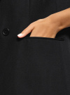 Жилет удлиненный со складками oodji #SECTION_NAME# (черный), 12300108/18600/2900N - вид 5
