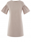 Платье из хлопка прямого силуэта oodji #SECTION_NAME# (коричневый), 11901159-1/47875/3710S