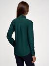 Блузка с декором на воротнике oodji #SECTION_NAME# (зеленый), 11403172-3/31427/6900N - вид 3