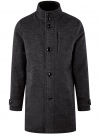 Пальто однобортное с воротником-стойкой oodji #SECTION_NAME# (серый), 1L312002M/48524N/2300N