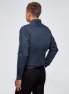 Рубашка хлопковая в мелкую графику oodji для мужчины (синий), 3L110335M/19370N/7975G - вид 3