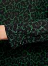 Блузка свободного силуэта с вырезом-капелькой на спине oodji #SECTION_NAME# (зеленый), 11411129/45192/6D29A - вид 5