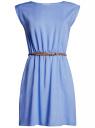 Платье вискозное без рукавов oodji #SECTION_NAME# (синий), 11910073B/26346/7501N