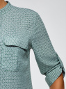 Блузка вискозная с нагрудными карманами oodji #SECTION_NAME# (зеленый), 11403225-7B/42540/6910G - вид 5