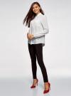 Блузка вискозная с нагрудными карманами oodji #SECTION_NAME# (белый), 21411126-1/48458/1200N - вид 6