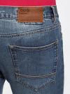 Джинсы slim базовые oodji для мужчины (синий), 6B120038M/45807/7500W - вид 5