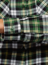 Рубашка клетчатая с нагрудными карманами oodji #SECTION_NAME# (зеленый), 13L00001-2/48869/6230C - вид 5