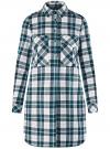 Платье-рубашка с карманами oodji #SECTION_NAME# (разноцветный), 11911004-2/45252/1279C