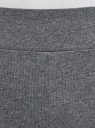 Легинсы хлопковые с лампасами oodji для женщины (серый), 18700058/47618/2510Z
