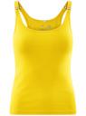 Майка-борцовка с люверсами на лямках oodji #SECTION_NAME# (желтый), 24305006B/46164/5100N