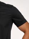Рубашка базовая с коротким рукавом oodji для мужчины (черный), 3B240000M/34146N/2900N - вид 5