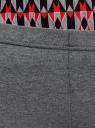 Бриджи трикотажные с кружевной отделкой oodji для женщины (серый), 18700053B/46159/2300M