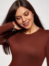 Платье вязаное базовое oodji для женщины (красный), 73912217-2B/33506/4900N - вид 4