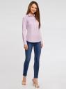Рубашка приталенная с нагрудными карманами oodji #SECTION_NAME# (фиолетовый), 11403222-4/46440/8010S - вид 6