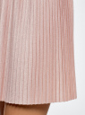 Юбка мини плиссированная oodji для женщины (розовый), 14100080/46609/4B01X