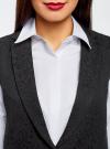Жилет удлиненный из фактурной ткани oodji #SECTION_NAME# (черный), 22305005-1/46809/2900N - вид 4