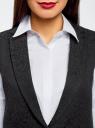 Жилет удлиненный из фактурной ткани oodji для женщины (черный), 22305005-1/46809/2900N