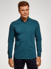 Рубашка extra slim в мелкую клетку oodji #SECTION_NAME# (синий), 3B140003M/39767N/7962C - вид 2
