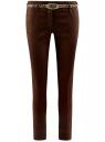 Брюки-чиносы с ремнем oodji #SECTION_NAME# (коричневый), 21703094-3/33482/3900N