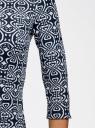 Платье из плотной ткани с принтом oodji #SECTION_NAME# (синий), 14001150-4/33038/1079E - вид 5