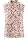 Топ базовый из струящейся ткани oodji для женщины (розовый), 14911006B/43414/4029F