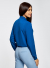 Блузка из струящейся ткани oodji #SECTION_NAME# (синий), 11400368-3/32823/7500N - вид 3