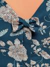 Платье принтованное с бантом на спине oodji #SECTION_NAME# (синий), 11900181-2/35271/7912F - вид 5