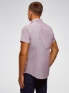 Рубашка приталенная с нагрудным карманом oodji #SECTION_NAME# (красный), 3L210047M/44425N/1045G - вид 3
