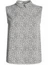 Блузка базовая без рукавов с воротником oodji #SECTION_NAME# (разноцветный), 11411084B/43414/2910F