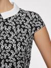 Платье принтованное с воротником oodji #SECTION_NAME# (черный), 11900194/24808/2910F - вид 5