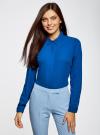 Блузка из струящейся ткани oodji #SECTION_NAME# (синий), 11400368-3/32823/7500N - вид 2
