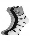 Комплект из трех пар хлопковых носков oodji для женщины (разноцветный), 57102802T3/47469/20 - вид 2