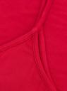 Топ вискозный на бретелях oodji для женщины (красный), 24306001/13579/4500N