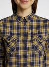 Рубашка в клетку с карманами oodji #SECTION_NAME# (зеленый), 11400433-1/43223/7952C - вид 4