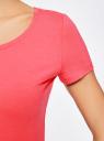 Футболка женская (упаковка 2шт.) oodji для женщины (розовый), 14701005T2/46147/4D00N