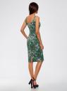 Платье-майка трикотажное oodji #SECTION_NAME# (зеленый), 14015007-3B/37809/6241U - вид 3