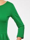 Платье трикотажное приталенное oodji #SECTION_NAME# (зеленый), 14011005B/38261/6E00N - вид 5