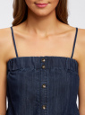 Комбинезон джинсовый на тонких бретелях oodji #SECTION_NAME# (синий), 13109007/18361/7900W - вид 4