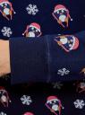 Свитшот с новогодним принтом oodji для женщины (синий), 14801045-1/46168/7945K