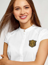 Платье комбинированное с вышивкой oodji #SECTION_NAME# (белый), 12C12001-1/42250/1029B - вид 4