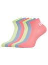 Комплект укороченных носков (6 пар) oodji для женщины (разноцветный), 57102418T6/47469/19U0P