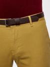 Брюки-чиносы хлопковые oodji #SECTION_NAME# (желтый), 2B150027M/39622N/5700N - вид 5